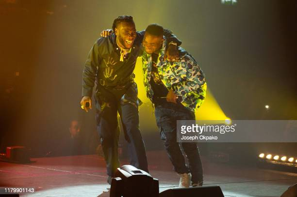 Burna Boy and Dave performs at SSE Arena Wembley on November 3 2019 in London England