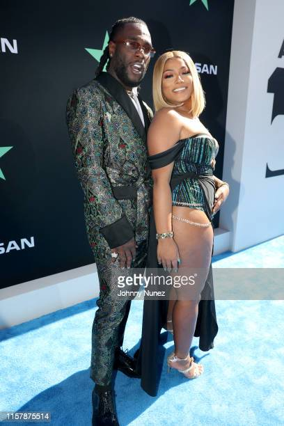 Burna Boy and Stefflon Don attend the 2019 BET Awards at Microsoft Theater on June 23 2019 in Los Angeles California
