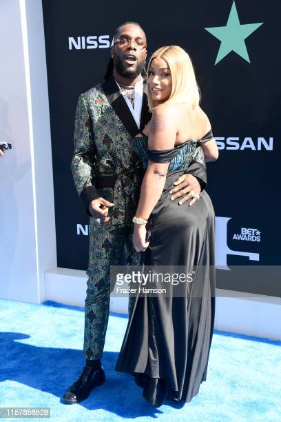 Burna Boy and Stefflon Don attend the 2019 BET Awards on June 23 2019 in Los Angeles California