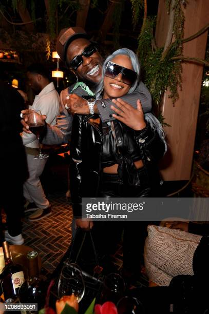 Burna Boy and Stefflon Don attend the 'YouTube Music Excellence Brunch' hosted by YouTube Music's Global Head of Music, Lyor Cohen and Youtube...