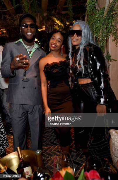 Burna Boy, Dara Henry and Stefflon Don attend the 'YouTube Music Excellence Brunch' hosted by YouTube Music's Global Head of Music, Lyor Cohen and...