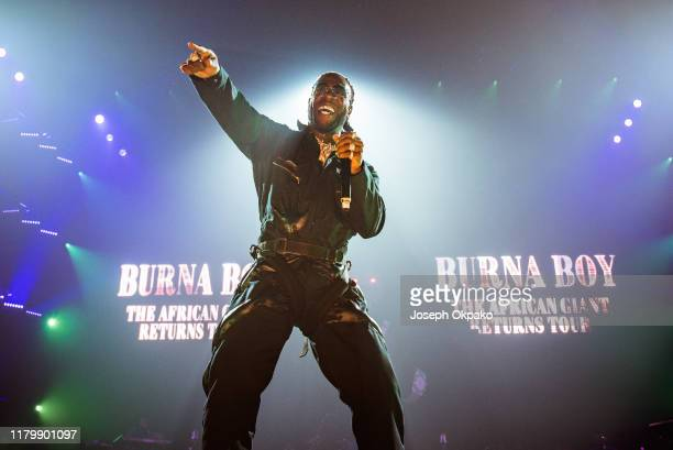 Burna Boy performs at SSE Arena Wembley on November 3 2019 in London England