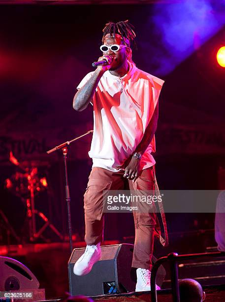 Burna Boy performs during the Essence Festival All Star music concert at the Moses Mabhida Stadium on November 13 2016 in Durban South Africa...