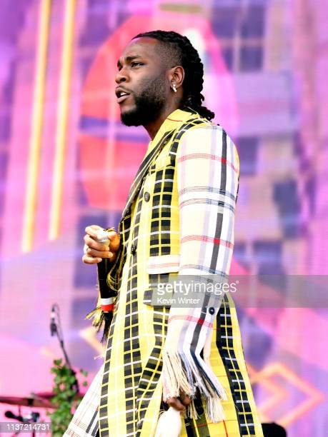 Burna Boy performs on Coachella Stage during the 2019 Coachella Valley Music And Arts Festival on April 14 2019 in Indio California