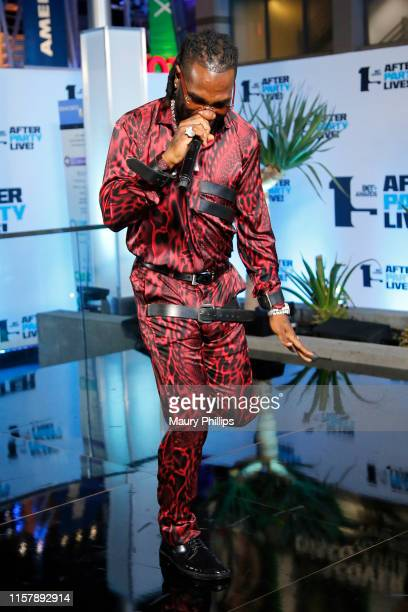 Burna Boy performs onstage during the Post Show at the 2019 BET Awards at Microsoft Theater on June 23 2019 in Los Angeles California