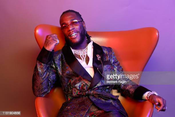 Burna Boy poses for a portrait during the BET Awards 2019 at Microsoft Theater on June 23 2019 in Los Angeles California