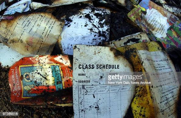 Burned Books And Papers Lie In A Pile Outside The Dequeen Ark Home News Photo Getty Images