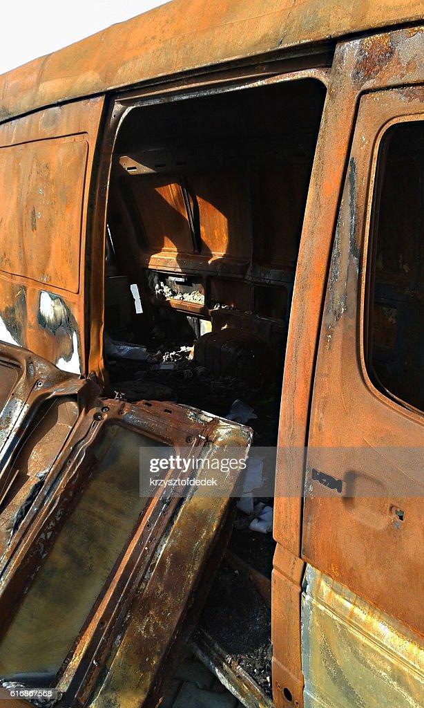 burned car : Stock Photo