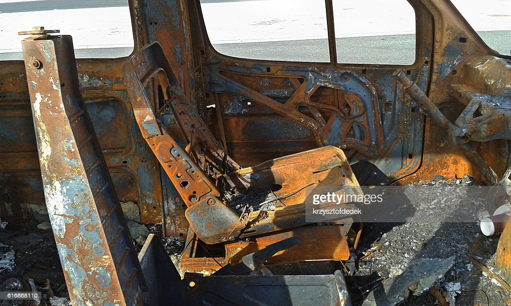 burned car : Stock Photo