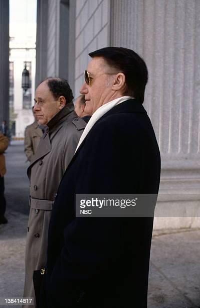 LAW ORDER Burned Episode 9 Air Date Pictured Bob Dishy as Lawrence Weaver Robert Vaughn as Carl Anderton