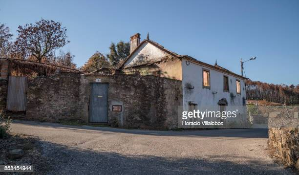 Burned house seen four months after the forest fire on October 06 2017 in Vila Facaia Portugal Pedrogao Grande municipality suffered the death of at...