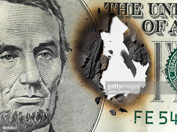 Burned US Currency