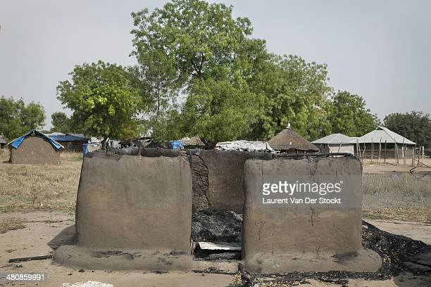 Burnedout houses in Bor 200 km North of Juba the capital of the state of Jonglei on four occasions occupied by the rebellion and taken back by the...