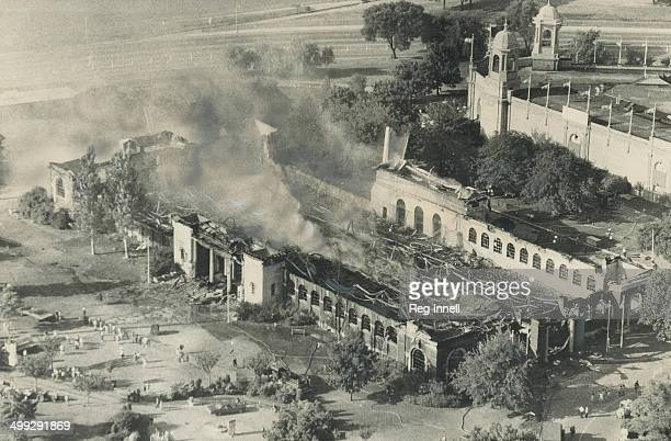 Burned-out shell of the International Building at the Canadian National Exhibition is all that s left of one of this year s most popular exhibits -...
