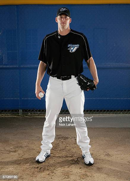 J Burnett of the Blue Jays poses for a portrait during the Toronto Blue Jays Photo Day at the Bobby Mattick Training Center on February 25 2006 in...
