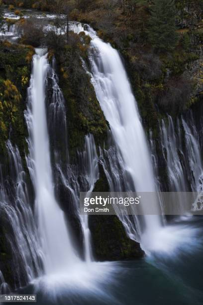 burney falls and pool, mcarthur-burney falls memorial state park, shasta county, california. - don smith stock pictures, royalty-free photos & images