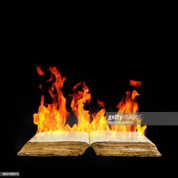 burning book - burning stock pictures, royalty-free photos & images