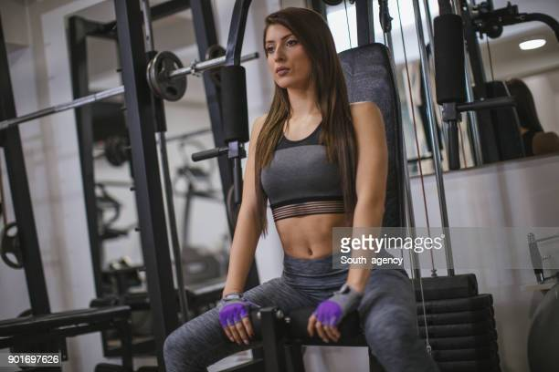 burning calories - beautiful woman chest stock pictures, royalty-free photos & images