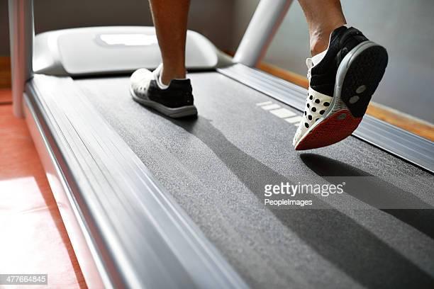 Burning calories with a cardio workout