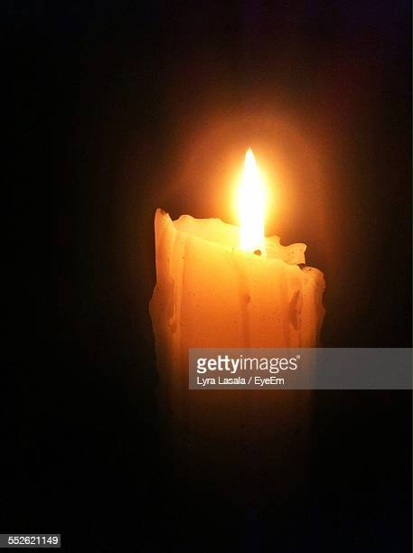 burning candle - lyra stock photos and pictures