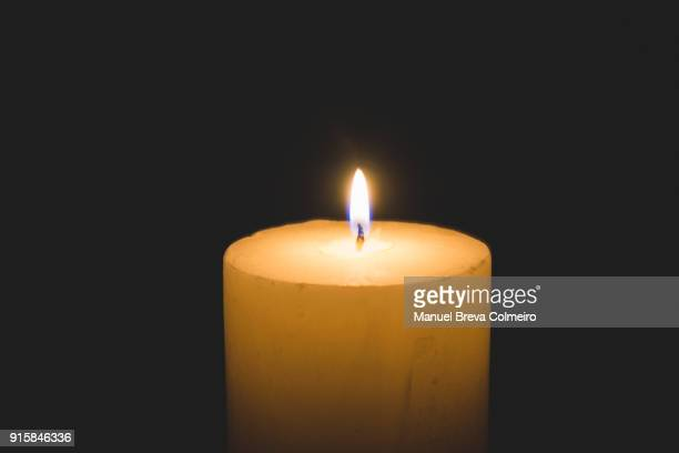 burning candle - memorial event stock pictures, royalty-free photos & images