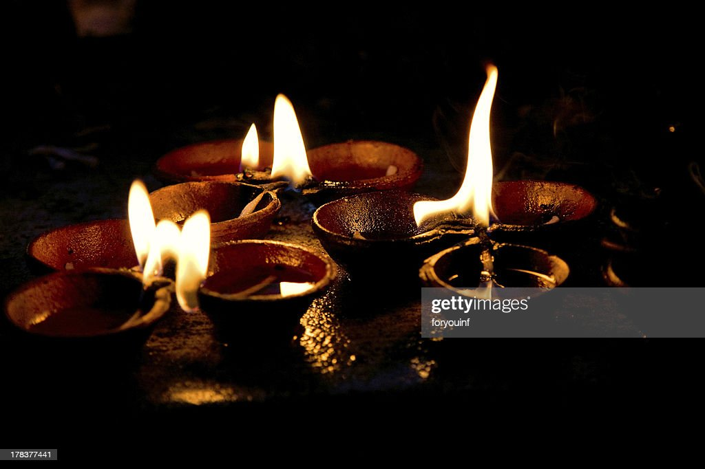Burning Candles On Altar In Buddhist Temple Stock Photo - Getty Images