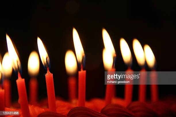 burning candles - happy birthday richard stock pictures, royalty-free photos & images