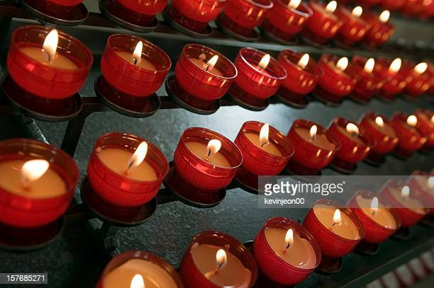 burning candles - religious service stock pictures, royalty-free photos & images
