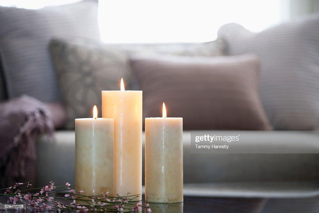 Burning candles : Foto de stock