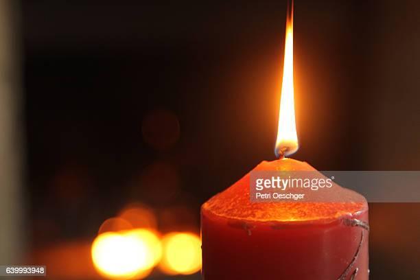 Burning candles.
