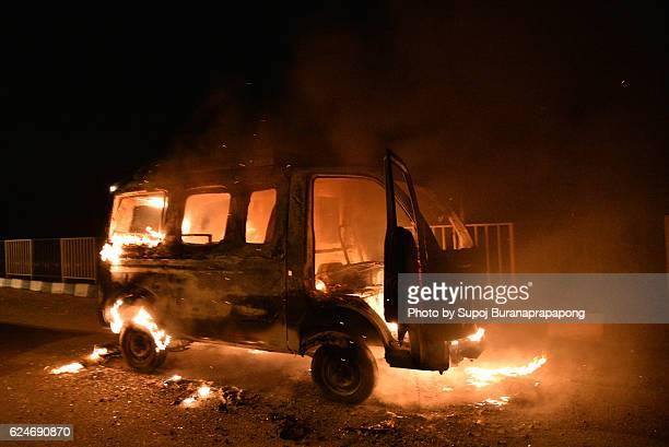 burning car - terrorism stock pictures, royalty-free photos & images