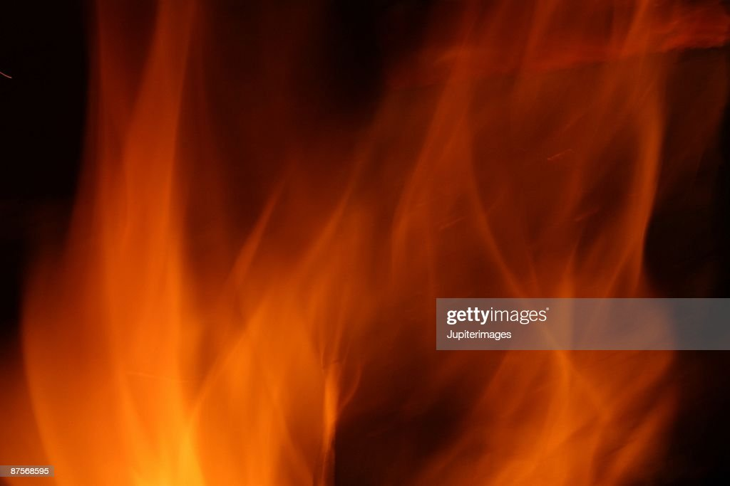 Burning flames : Stock Photo