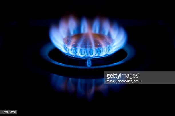 Burning gas oven