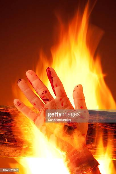 burning in hell - burnt body stock photos and pictures