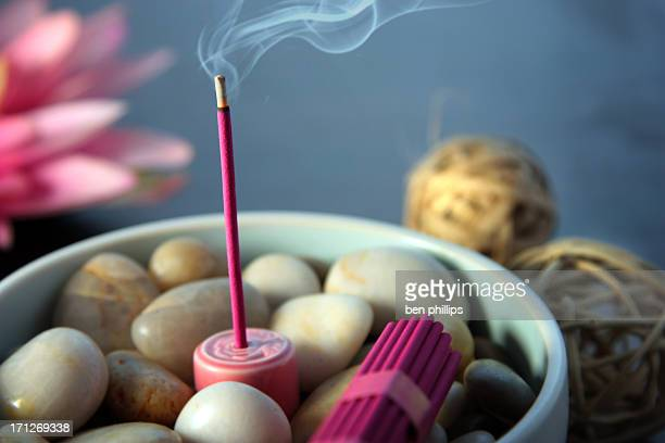 burning incense - incense stock pictures, royalty-free photos & images