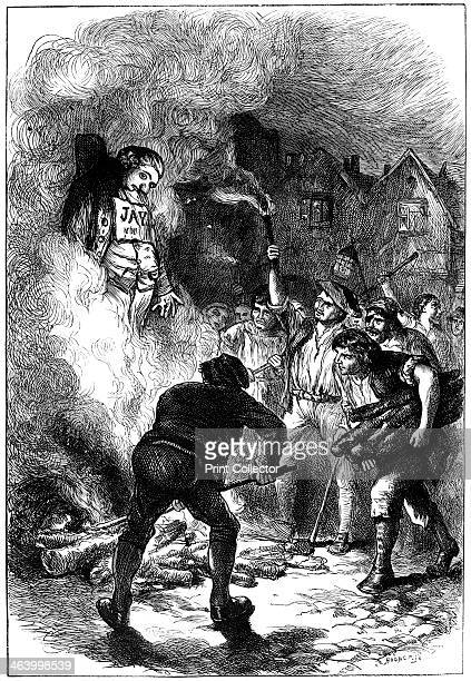 Burning John Jay's effigy, c1794 . One of the Founding Fathers of the United States, John Jay served as the chief negotiator on the American side for...