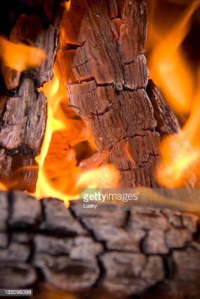 Bûches en bois à brûler