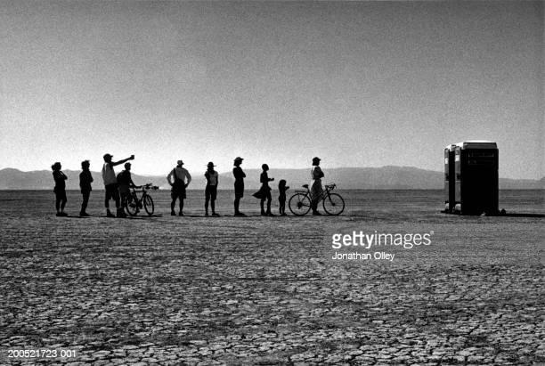 Burning Man Festival BW
