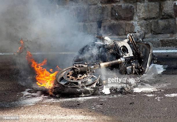 motorcycle ardor después de accidente