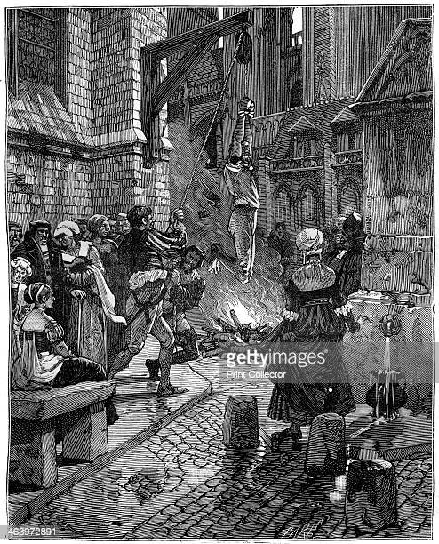 Burning of a heretic c16th century The 16th century saw increasing strife between French Catholics and Protestants culminating in the French Wars of...