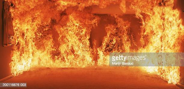 burning room - hell stock pictures, royalty-free photos & images