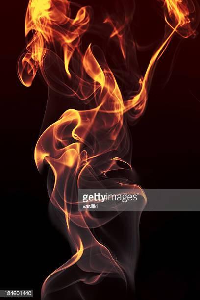 Burning smoke series