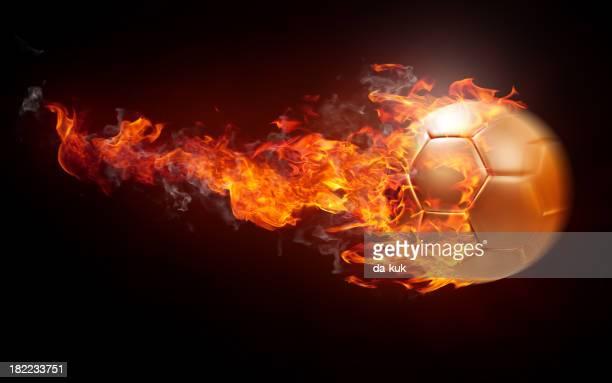 Burning pelota de fútbol