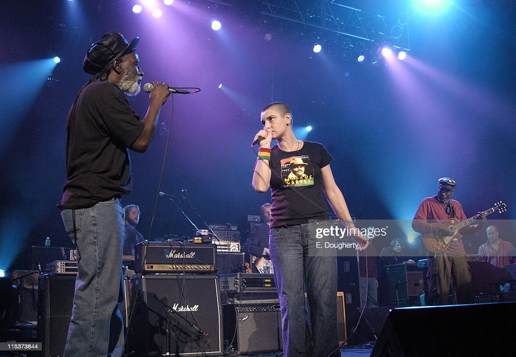 Burning Spear and Sinead O'Conner during 5th Annual Jammy Awards at Madison Square Garden Theater in New York City, New York, United States.
