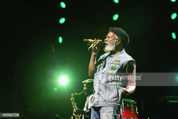 Burning Spear performs at Nelson George's multimedia presentation 'Vote It Ain't Illegal Yet' during 2014 Celebrate Brooklyn at the Prospect Park...