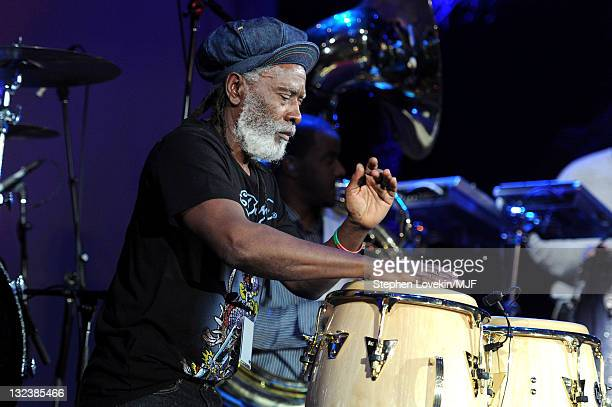 Burning Spear performs onstage with The Roots during the Michael J Fox Foundation's 2010 Benefit 'A Funny Thing Happened on the Way to Cure...