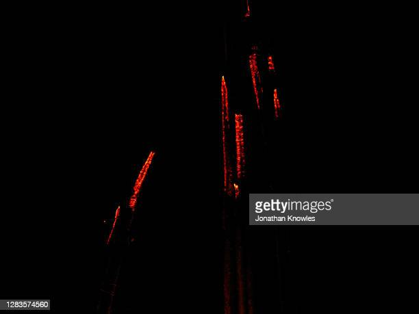 burning sticks in the dark - ember stock pictures, royalty-free photos & images