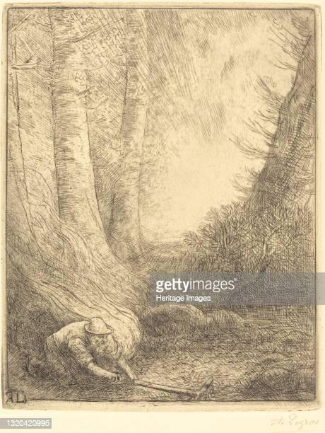 Burning the Grasses . Artist Alphonse Legros.