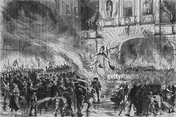 Burning the Pope in Effigy at Temple Bar' circa 19th century From Old and New London by Edward Walford Artist G Durand
