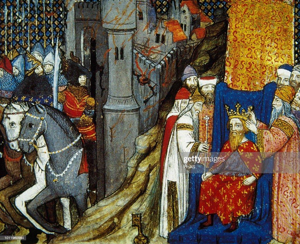 Burning Troy  Coronation King of France, descendant of